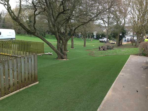 Artificial Grass Play Area